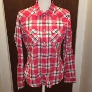 American Eagle Outfitters plaid long sleeve shirt